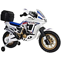 Injusa - Moto Honda Africa Twin 6V, color azul, 26 x 31 cm (6820)