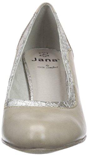 Jana22400 - Scarpe con Tacco Donna Grigio (Grau (LT. TAUPE 347))