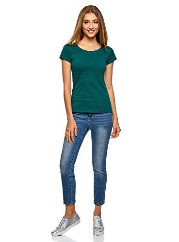 oodji Ultra Damen T-Shirt Basic Aus Baumwolle (2er-Pack) Mehrfarbig (19NHN)