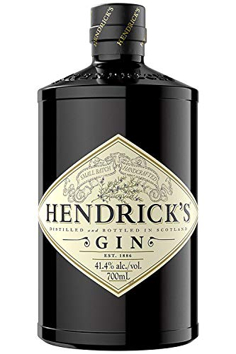 Hendrick's Gin - der einzigartige Gin mit Gurken und Rosenblattessenzen, 1 x 0.7 l, 44% Vol.