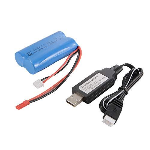 Kreema Li-Ion-Akku JST 7,4V 1500mAh 15C 18650 + USB-Ladegerät für RC-Spielzeug BC857