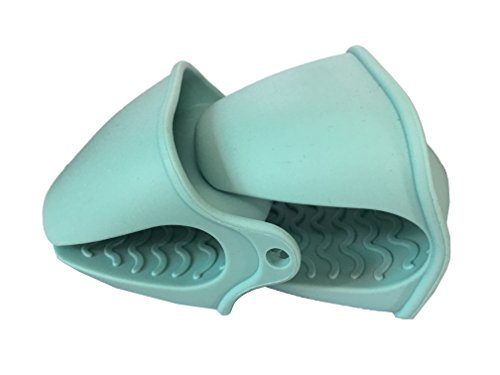 4Mehrzweck Silikon Abtropfmatte, Silikon Topflappen, Untersetzer, Deckelöffner, rutschfeste hitzebeständig Hot Pads Large Pinch Mitts-Sky Blue Hot Hand Jar Opener