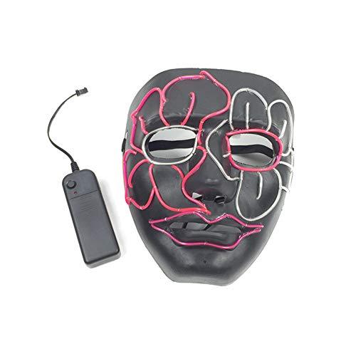 Maske leuchtenden Led Maske Creative EL Mask Schädel voller Gesichtsmaske Horror Skelett cosplay Masquerade EL Draht DJ Party Festival Halloween Kostüm LED Maske Kostüme Mask Weihnachten Tanzen Party