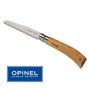 Opinel-Couteau Scie Opinel N° 12 Nature - Manche 16.5 cm Bois Hetre - Virole Tournante