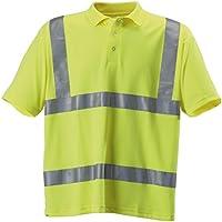 Baratec–Ropa de trabajo alta visibilidad Hi Vis Amarillo Polo de manga corta para mujer