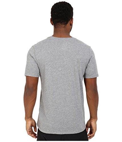 Nike Herren T-shirt Dri Fit Version 2.0 Grau (Carbon Heather / Carbon Heather / Weiß)