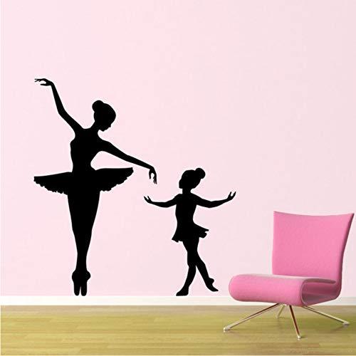 Kinder Kinderzimmer Mädchen Zimmer Vinyl Ballett Wand Klebstoff Innen Kunstwand Für Kindergarten Baby Zimmer 42x75 cm ()