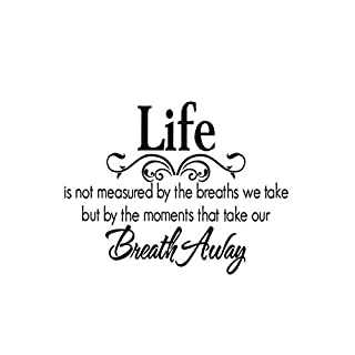 samLIKE Life Saying Vinyl Decal Art Mural Wall Stickers for Home Decor Gift for Love Family Quotes (Black)