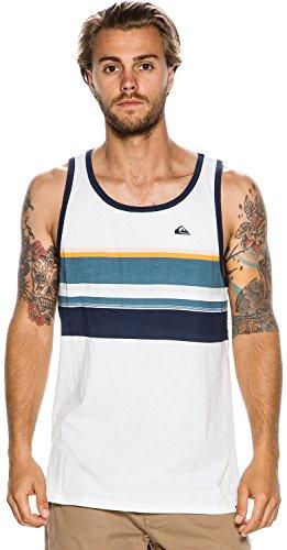 Quiksilver Herren T-Shirt White/ Navy Blazer