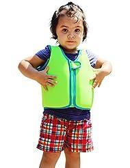 Veste en Flotteur pour Enfants Entraînement de Natation pour les Garçons Girls Neoprene Buoyancy Aid