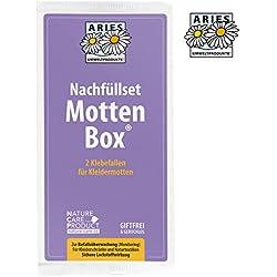 Aries, Mottlock   Trampas Adhesivas para polillas de Ropa   1 sobre con 2 Trampas