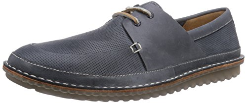 Clarks Grafted Sail, Brogues homme Bleu (Dark Blue Lea)