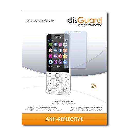 disGuard® Bildschirmschutzfolie [Anti-Reflex] kompatibel mit Nokia 230 [2 Stück] Entspiegelnd, Matt, Antireflektierend, Extrem Kratzfest, Anti-Fingerabdruck - Panzerglas Folie, Schutzfolie