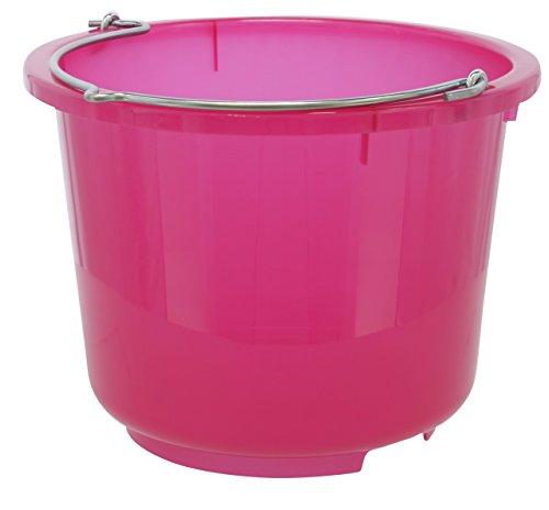 Kerbl 298801 Stall- und Baueimer, 12 L, transparent/rosa