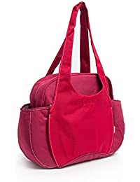 Yoovi Large Capacity Multi-function Mummy Bags Handbags Zippered Tote Diaper Bag Tote (Red)