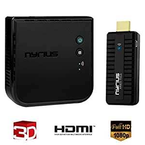 Nyrius ARIES Prime Wireless Video HDMI Transmitter & Receiver for Streaming HD 1080p 3D Video & Digital Audio from Laptop, PC, Cable, Netflix, YouTube, PS4, Xbox One to HDTV/Projector (NPCS549UK)
