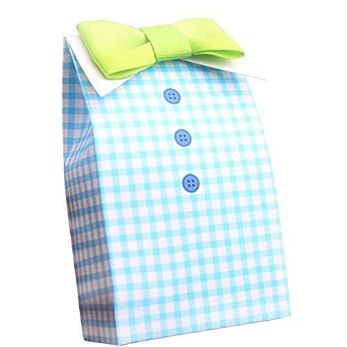 qingsb 5 Stück gestreifte Schleife Schleife Hochzeit Baby Party Süßigkeiten Geschenk-Box Gastgeschenke Beutel Bow Tie (Geschenk-box Bow Tie)