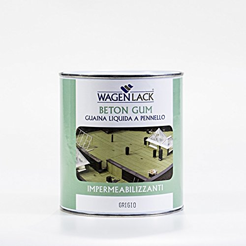 Wagen Lack - Guaina Liquida Impermeabilizzante Beton Gum, 0.75 Lt, Colore: Marrone