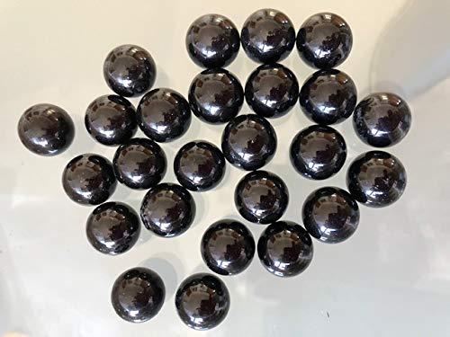schwarze edle Glaskugeln Ø ca. 14 mm, 25 Stück (Schwarz Ben Wa Kugeln)