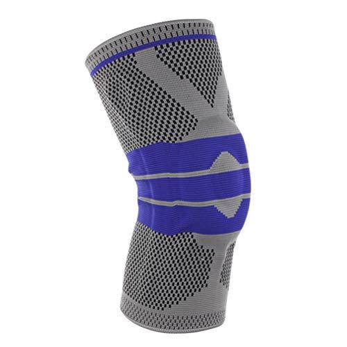Xingkee Elastische Kniebandage Schutz für Meniskus, Bänder und Patella Beim Sport Wie Volleyball, Handball und Fußball - Atmungsaktive Knieorthese für Damen, Herren