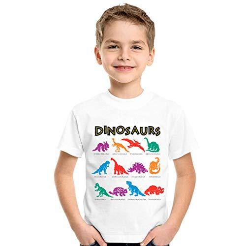 Zylione Kinder T-Shirt Junge Mädchen Dinosaurier Brief Kurzarm Shirt Kindertagesgeschenk