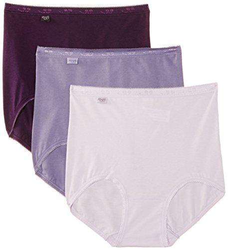 Sloggi - Basic Maxi 3 Pack, Slip da donna Multicolore (Multicoloured  (Violet/Dark Combination))
