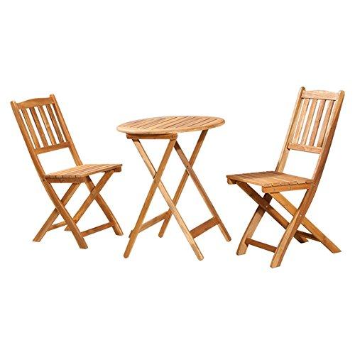 LXYFMS Trois Ensembles De Tables Et De Chaises en Bois Massif Pliante Portable Outdoor Table Extérieure Et Deux Chaises en Bois Balcon Table Et Chaises Combinaison Table Pliante
