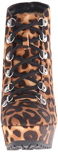 Jessica Simpson gannan Damen Plateau Chunky Absatz Beute UK Größen Natural Leopard