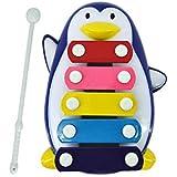 Tongshi Bebé niño 5 Nota xilófono Juguetes Musicales Sabiduría Desarrollo pingüino (Azul)