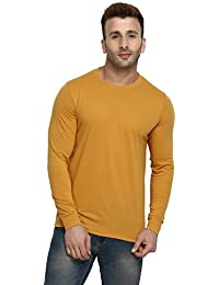 CHKOKKO Full Sleeve Cotton Casual Round Neck T Shirts For Men