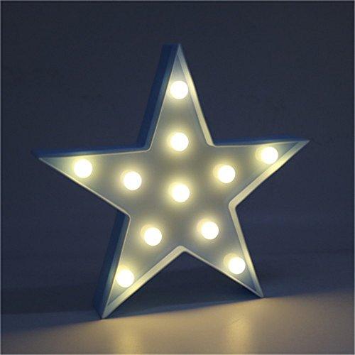 Süße LED Nachtlichter Stimmungslicht Schreibtischlampen Babyzimmer Kinderzimmer Dekorationen Geschenke (Stern, Blau)