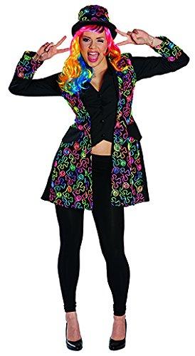 Freaky Dandy 80er Neon Kostüm für Damen (Kostüm Les Dandys)