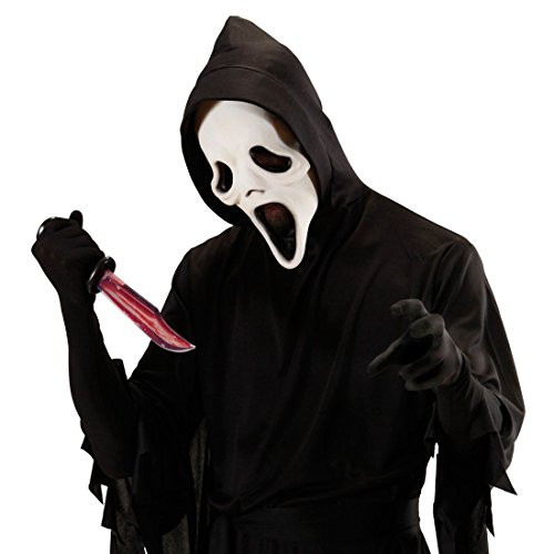 NET TOYS Blutiges Messer Killer Dolch Horror Fleischermesser Piraten Waffe Blut Metzgermesser Halloween Scream Kostüm Accessoire (Scream Blutiges Kostüm Halloween)