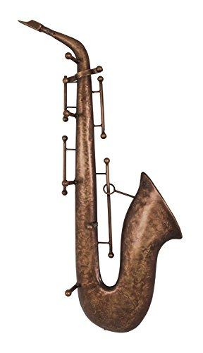 Wandgarderobe Saxophon aus Metall in 3D Vitnageoptik
