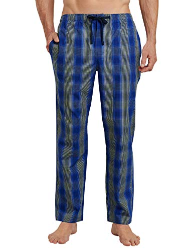 Schiesser Herren Mix and Relax Hose Lang Schlafanzughose, Blau (Royal 819), Large (Herstellergröße: 052) -
