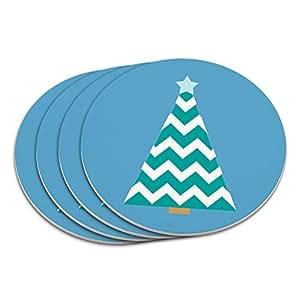 Weihnachtsbaum chevrons blue untersetzer set for Amazon weihnachtsbaum