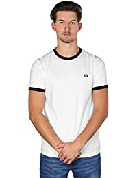 Fred Perry Ringer T-Shirt Snow White, T-Shirt