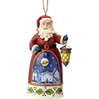 Enesco Hearwood Creek By Jim Shore Hwc Sospensione Babbo Natale con Lanterna, Pvc, Multicolore, 6x8x10 cm - Enesco Natale
