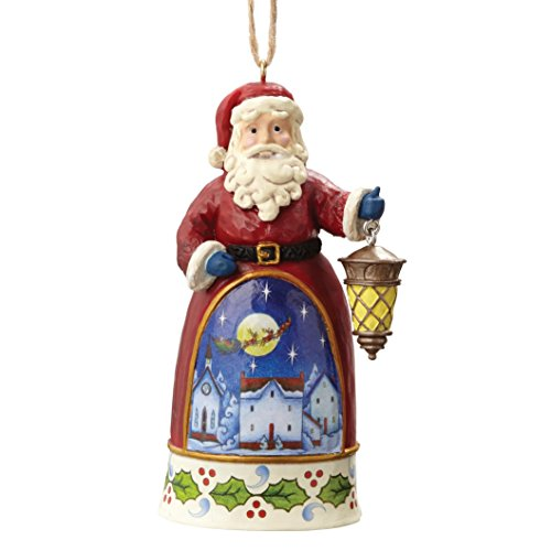 Creek Schlitten (Heartwood Creek 4055133 Santa With Lantern - Hanging Ornament, Plastik, bunt, 4 x 5.5 x 10 cm)