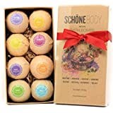 Schöne Bath Bombs Gift Set - 6 - All Natural Essential Oils, Infused with Cocoa Butter. Just Lay Back and Sail Away to Shores of Uncluttered Thoughts, Softer Skin a Invigorating Multilayered Explosion of Color and Scent, There Is a Bath Bomb Perfect for E
