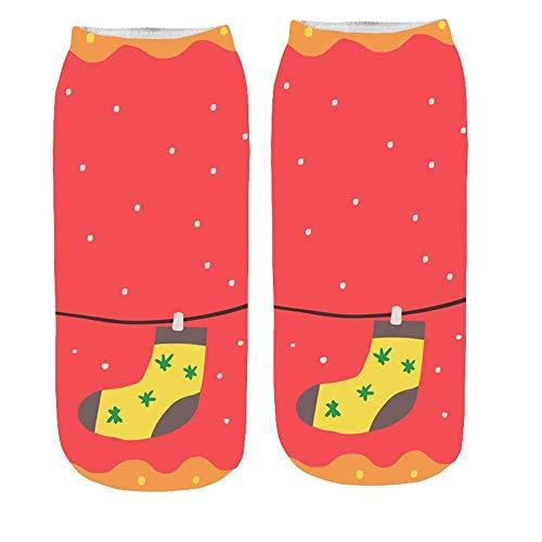 Missoul Women''s 3D Cartoon Funny Christmas Crazy Cute Amazing Novelty Print Ankle Socks3D Socks (E)