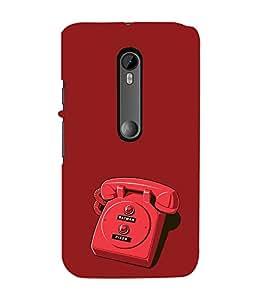 EPICCASE red phone Mobile Back Case Cover For Moto G 3rd Gen (Designer Case)