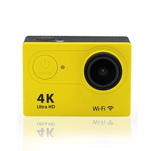 Providethebest H9-Action-Kamera 4K WiFi wasserdicht Sport-Cam 170 Grad-Weitwinkelobjektiv Sport-Kamera-Camcorder Gelb