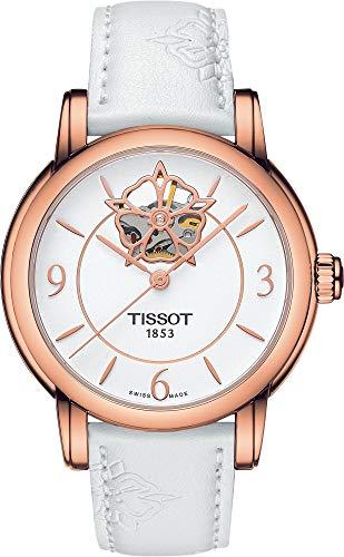 Tissot–Orologio da donna Lady Heart automatico t0502073701704Bracciale in pelle bianco–t0502073701704