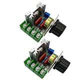 HiLetgo 2pcs 2000W AC Motor Speed Control Controller Adjustable Voltage Regulator 50-220V AC High...