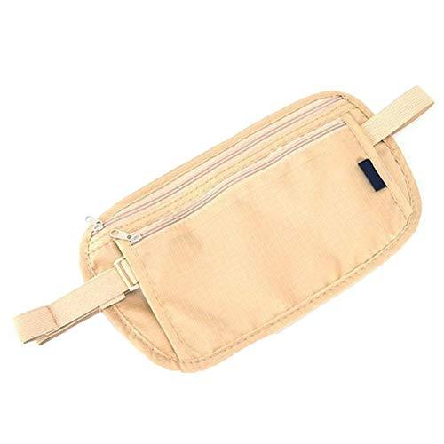 Qiao Nai(TM Unisex Reise Sicherheit Geld-Gürtel-Tasche mit Reißverschluss (BE)