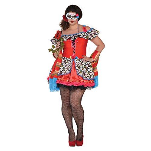 Senora Totenschädel - Tag der Toten Halloween Kostüm Damen Amscan