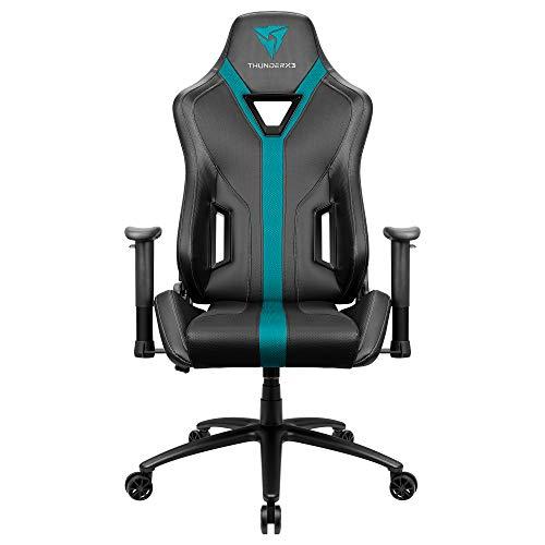 ThunderX· YC3, silla gaming, tecnología AIR, transpirable y ajustable, cyan
