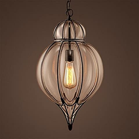 Xh&Yh American Style Creative Glass Pendant Light Village Retro CafŽ