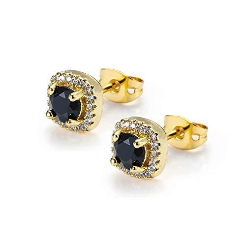 Amatop 1-4 Paare Diamantohrringe, kupferne Überzug-runde freie Zirkonia-Bolzen-Ohrring-Hip Hop-Schmucksachen der Frauen hypoallergen